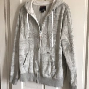 Union Bay white and gray zip hoodie